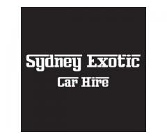 Sydney Exotic Car Hire